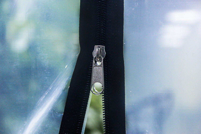 DGQ 4/' x 7-1//2 Dust Stop Door Dust Sheet Kit Peel /& Stick Plastic Door with Double Cloth Zipper Easy Installation