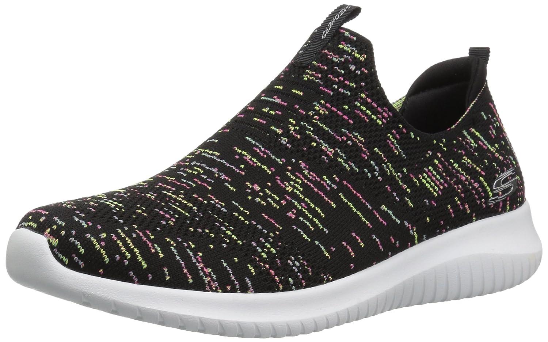 Skechers Women's Ultra Flex-First Take Sneaker B076Q2SX23 5.5 B(M) US|Black/Multi