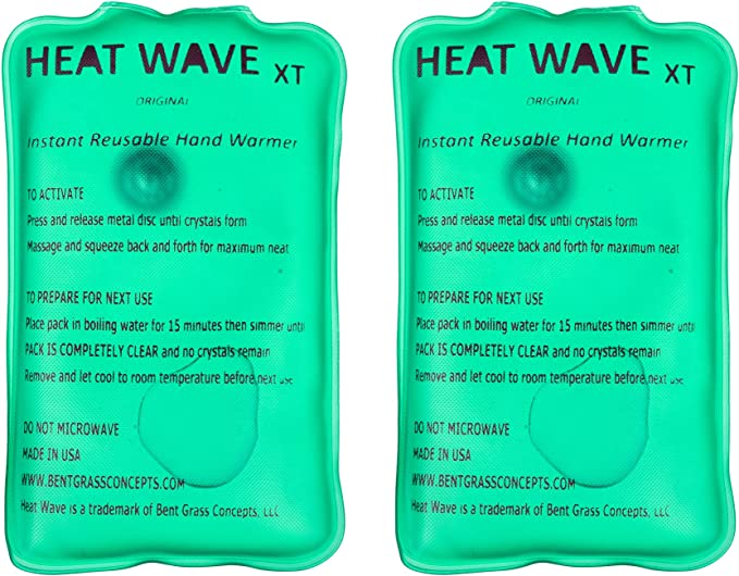 PACK OF 10 Heatwave Instant Disposable Hand Warmer Warm Heat One Single Use