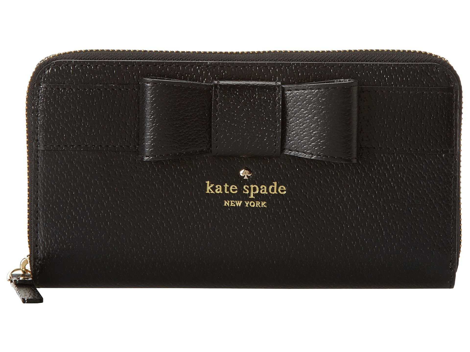 Kate Spade New York Kirk Park Lacey Checkbook Wallet Black One Size by Kate Spade New York