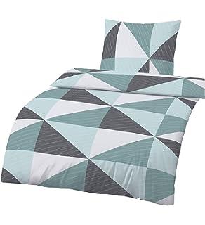 Nachdenklich Dormisette 1 Bettwäsche-garnitur Grün Mit Rosen 135x200 Cm Kissen 80x80 Reissver Möbel & Wohnen
