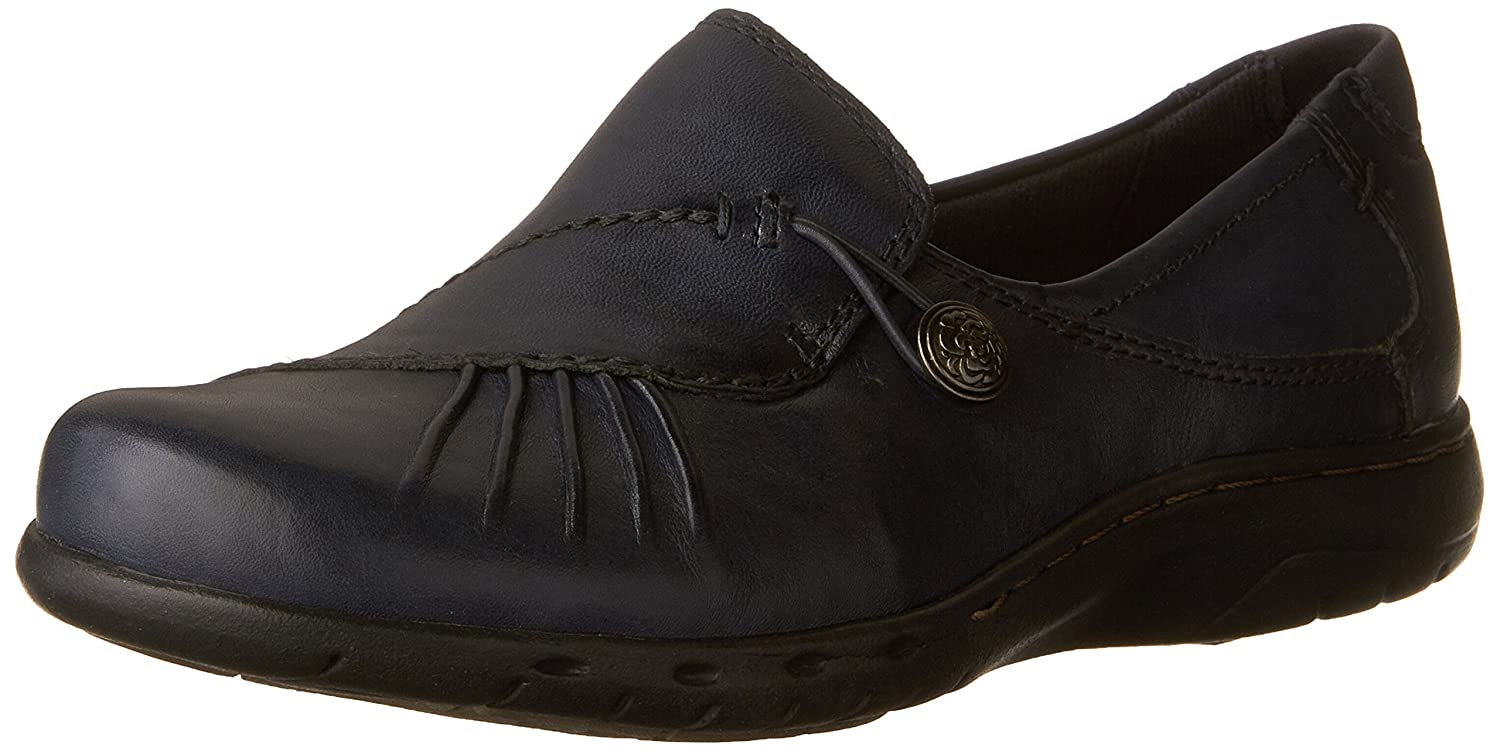 Navy Rockport Cobb Hill Women's Paulette Flat