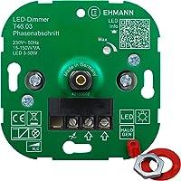 EHMANN 4600x0300 T46.03 inbouwdimmer, fasesectie, 230 V, 50 Hz, vermogen: LED 3-50 W, 15-150 W/VA, incl…