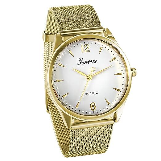 dd62747b8425 JewelryWe Reloj de Hombre Dorado Relojes de Caballero