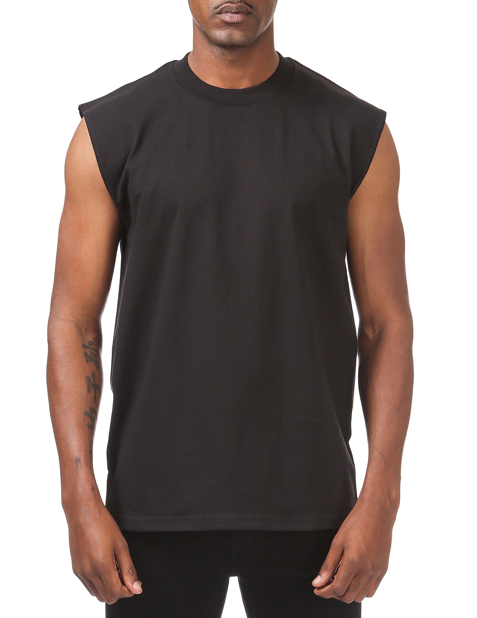 Pro Club Men's Heavyweight Sleeveless Muscle T-Shirt, X-Large, Black