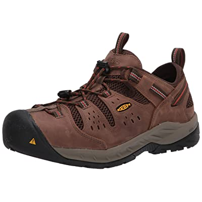 KEEN Utility Men's Atlanta Cool II Low Steel Toe Construction Shoe, Shiitake/Rust, 9D US: Shoes