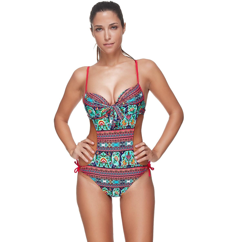COCO clothing - Traje de una Pieza - para Mujer Rojo 40: Amazon.es ...