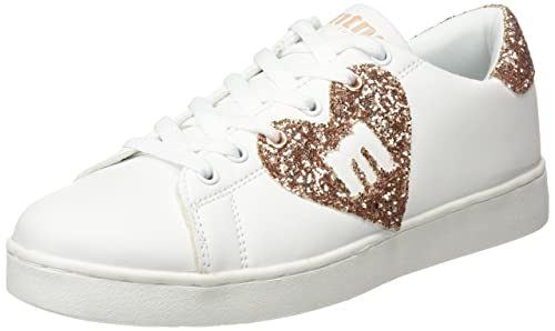MTNG Garza, Zapatillas Mujer, Multicolor (Action Pu Blanco/Glitter Rosa), 40 EU: Amazon.es: Zapatos y complementos