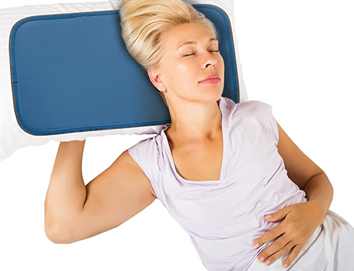 Cool Care Technologies Cooling Pillow Pad The Gel Cooling Pad Provides Instant Cool Relief, Ideal for Summer - Pressure-Activated Cool Gel Pillow Pad Technology for Migraines, Hot Flashes
