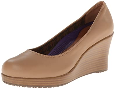 a7d05ff4a7f crocs Women s 14700 A Leigh Closed Toe Wedge Pump