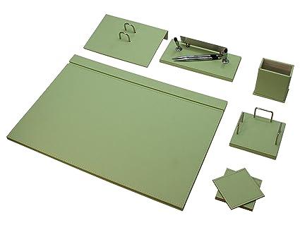 Bowa - Juego de piel para escritorio (8 unidades), archivador, soporte para