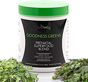 Prenatal Superfood Green Drink I Dietician Created for Pregnant Women I Organic Veggies & Fruit - Folate, Iron, Choline– Get Clarity, Reduce Nausea, Boost Energy & Mood – Perfect in Smoothies - 30ser
