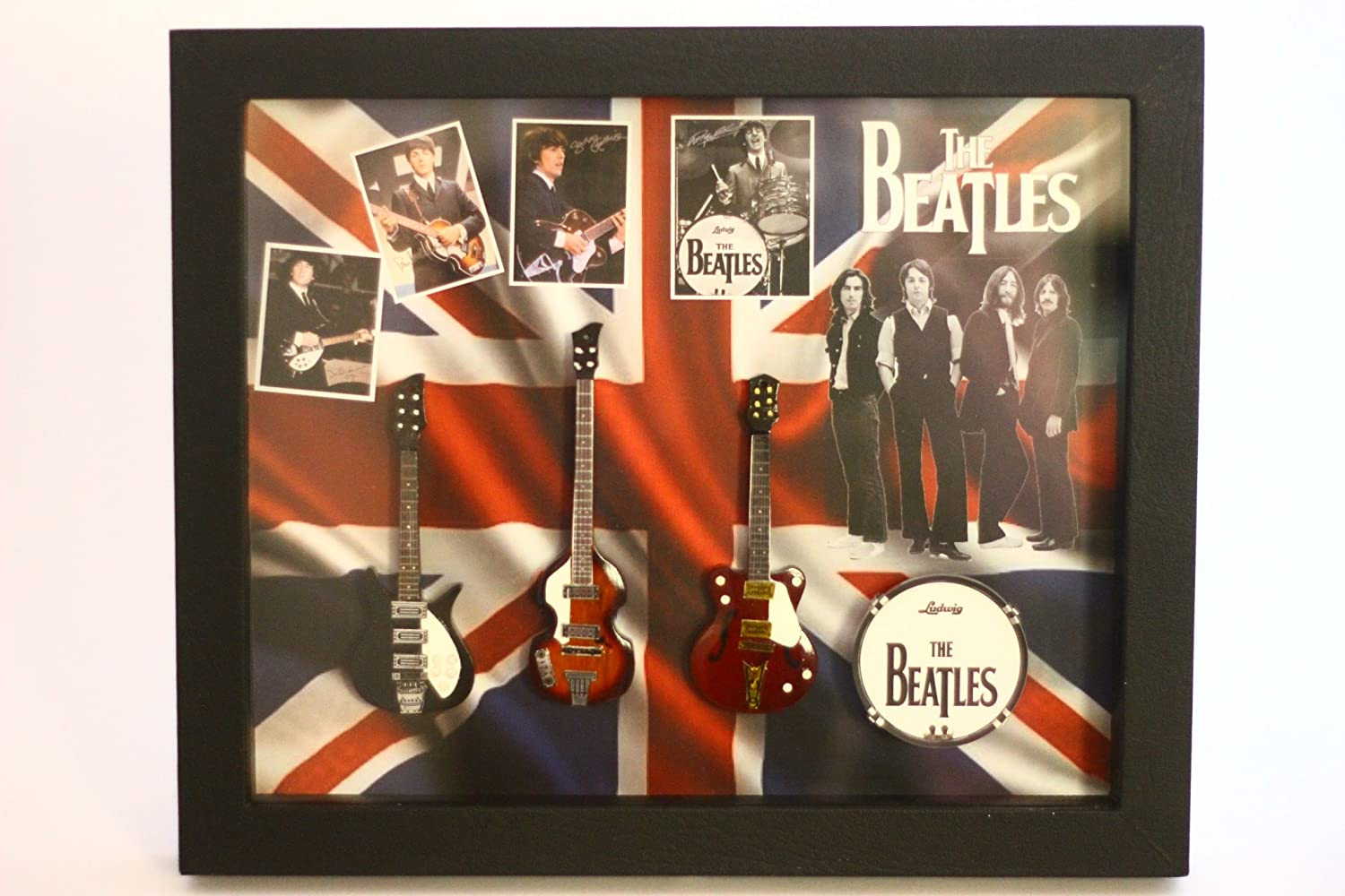 RGM8835 Beatles Miniature Guitar Collection in Shadowbox Frame
