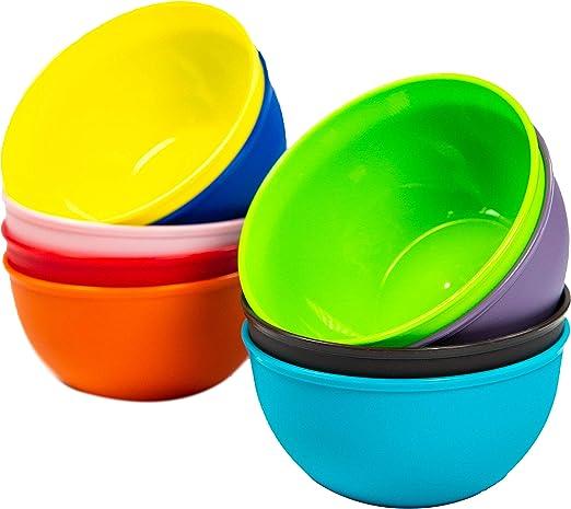 12 Packs Soup Bowls Reusable Hard Plastic 20 oz Microwave Dishwasher Safe