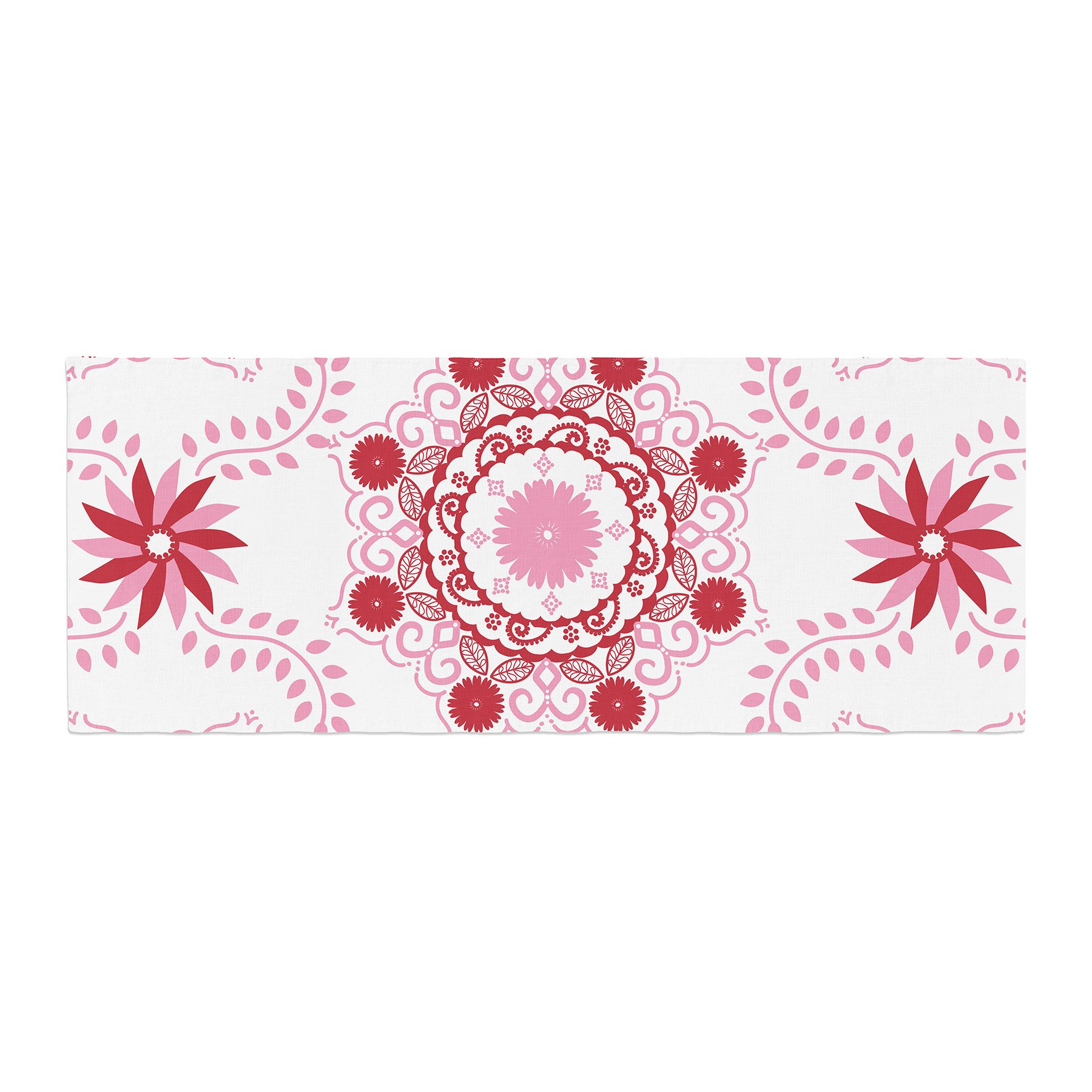 Kess InHouse Anneline Sophia Let's Dance Red Pink Floral Bed Runner, 34'' x 86''