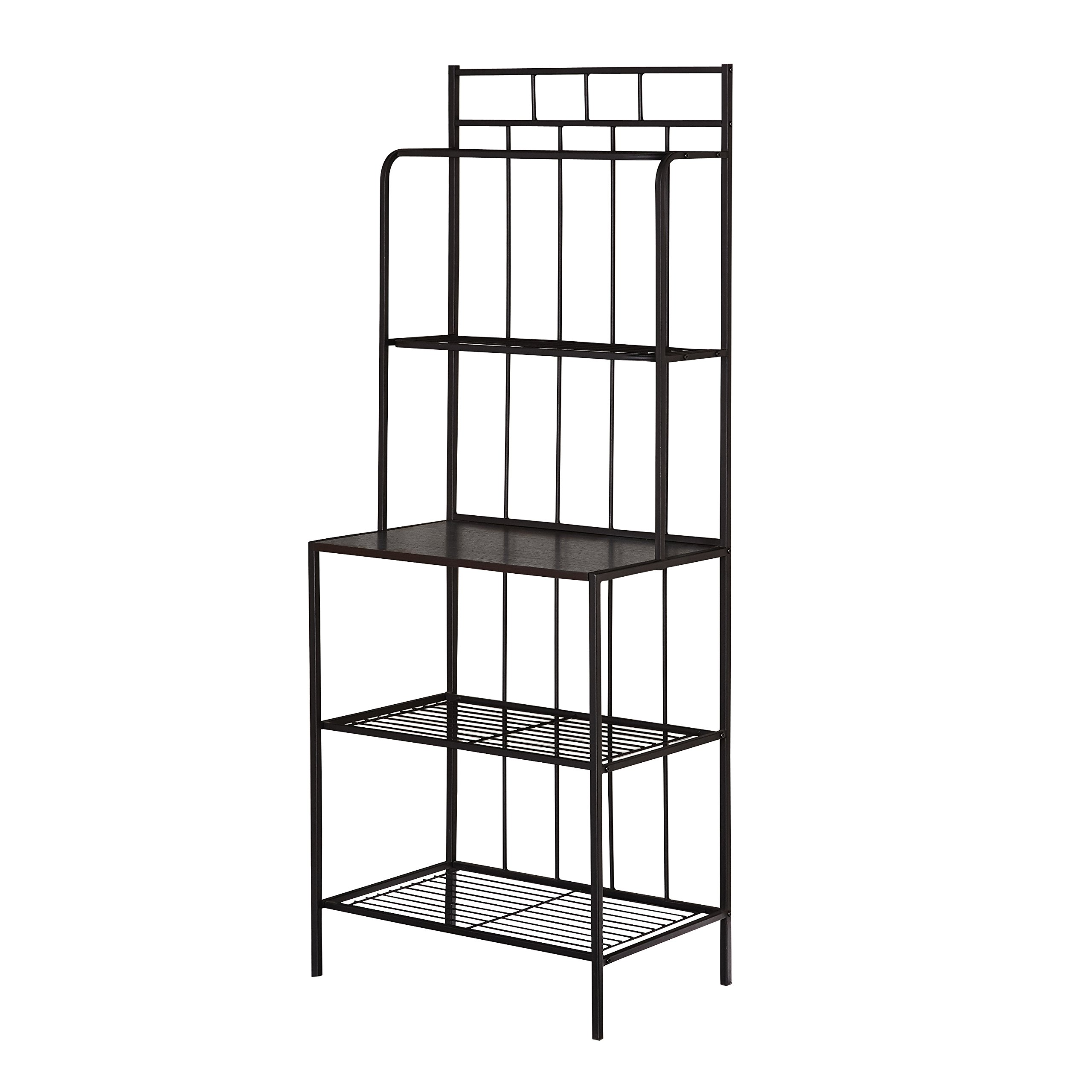 Target Marketing Systems Liv Collection Contemporary Metal Kitchen Dining Baker's Rack with Three Shelves, Black by Target Marketing Systems