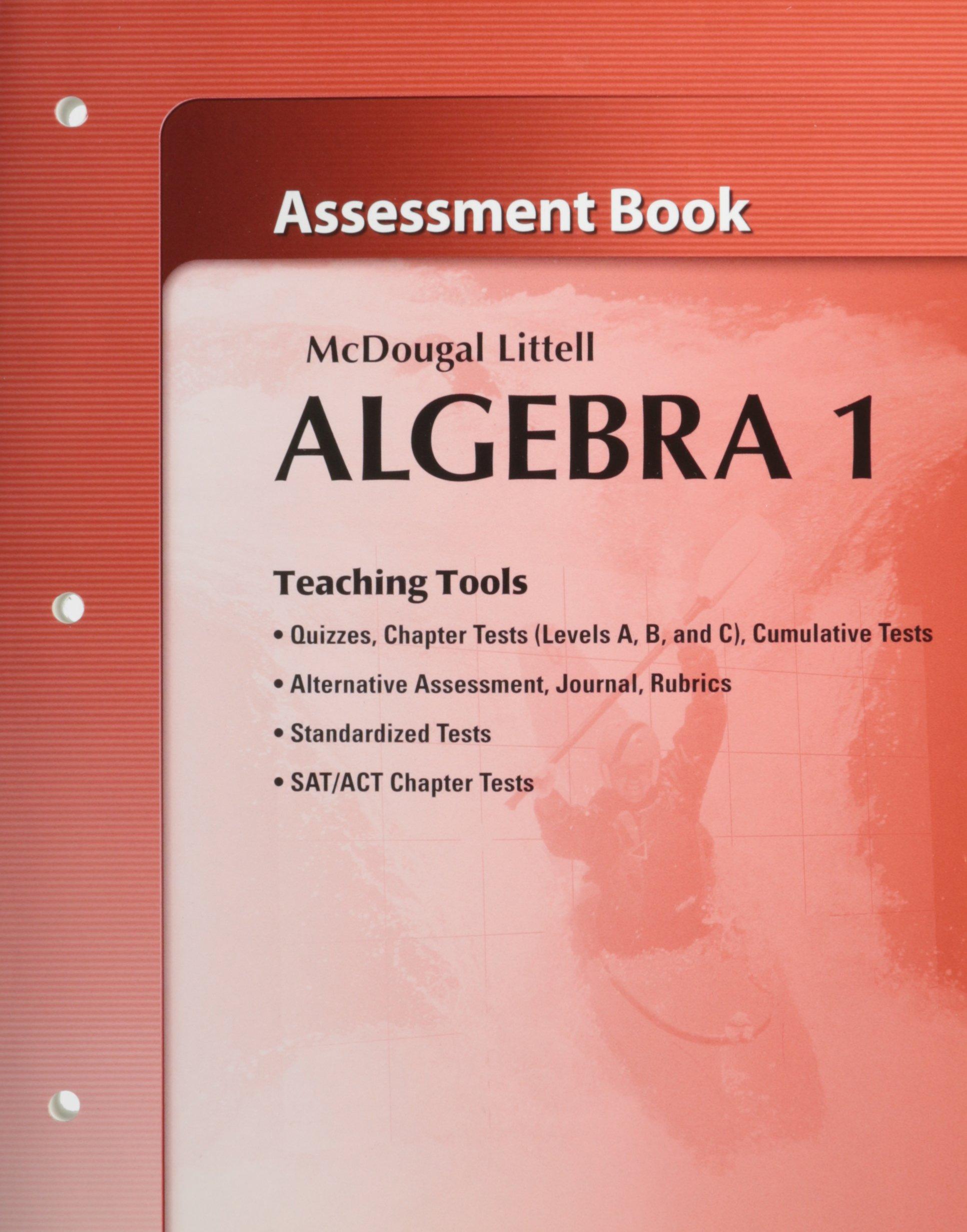McDougal Littell Algebra 1 Assessment Book Teaching Tools