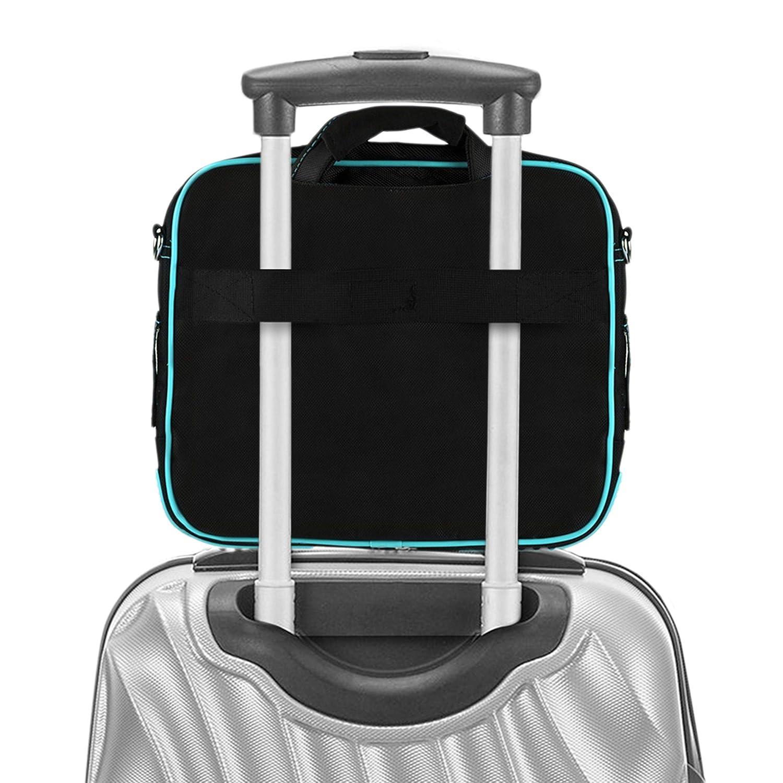 VanGoddy Pindar Messenger Bag Jet Black Carrying Case for Microsoft Surface Go//Surface Pro Series 10-12inch