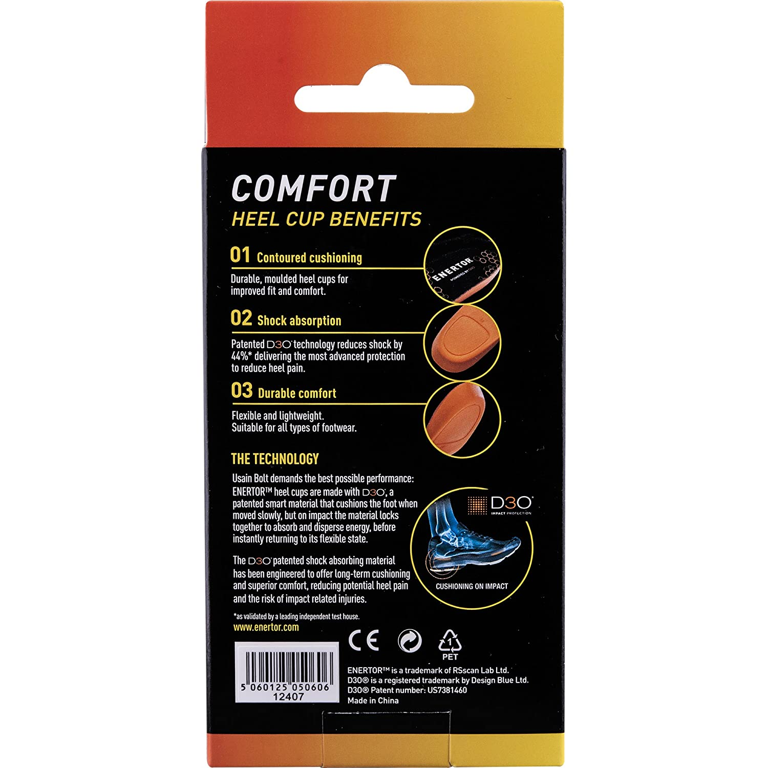 Amazon.com: Enertor Comfort Insole Heel Cup, Large 11-15: Health & Personal Care
