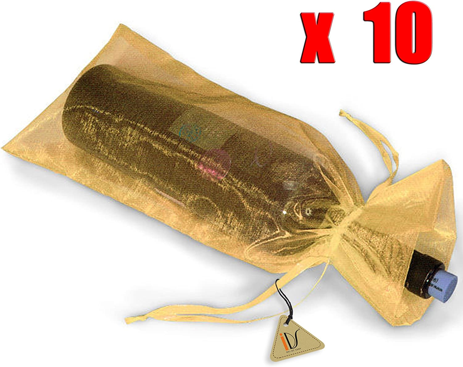 Wine Gift Bag Green Beige /& Gold perfect to put that gift in a bottle in!