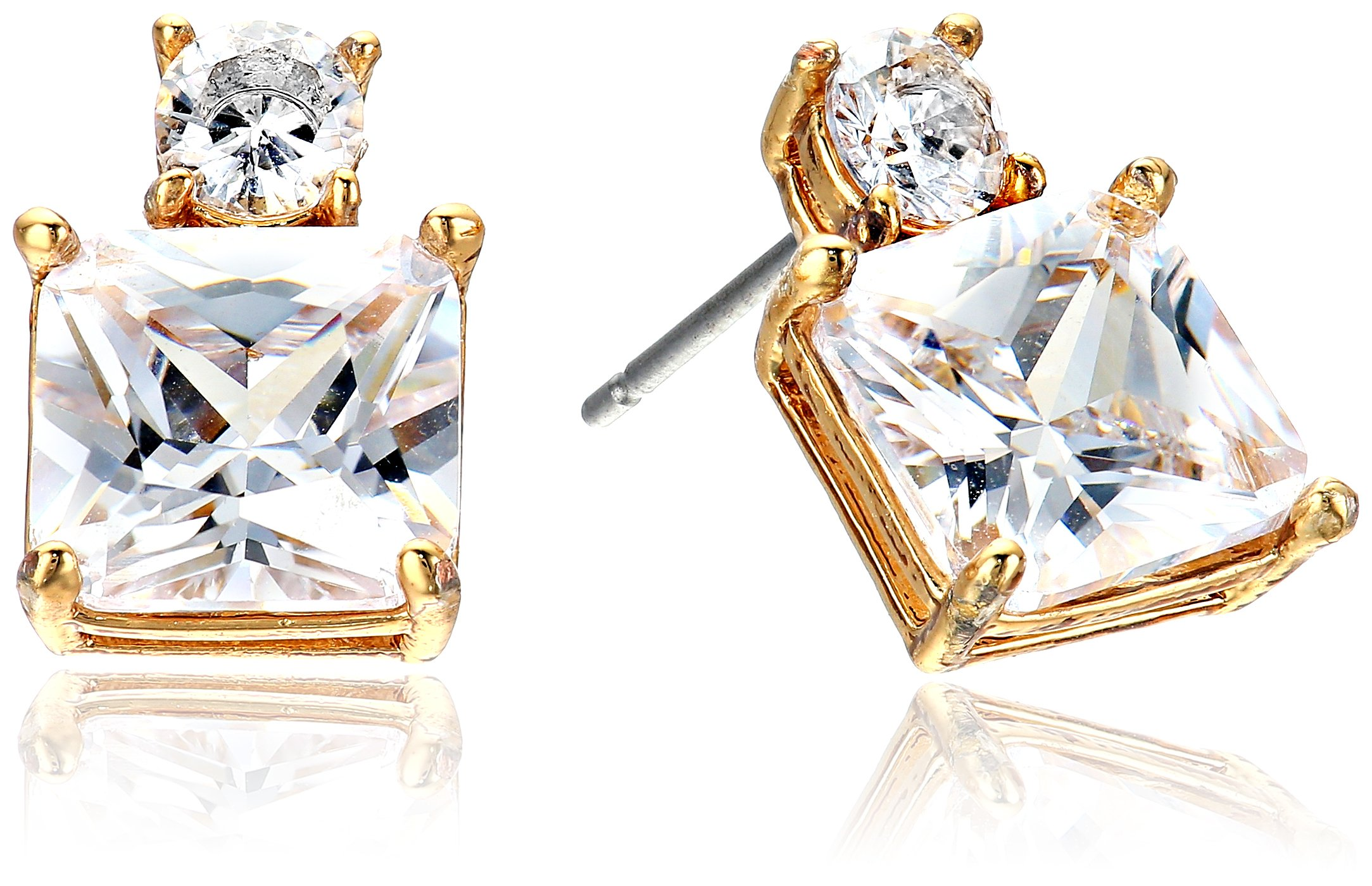 kate spade new york''Delicate Drop Earrings'' Flying Colors Delicate Clear/Gold Drop Earrings