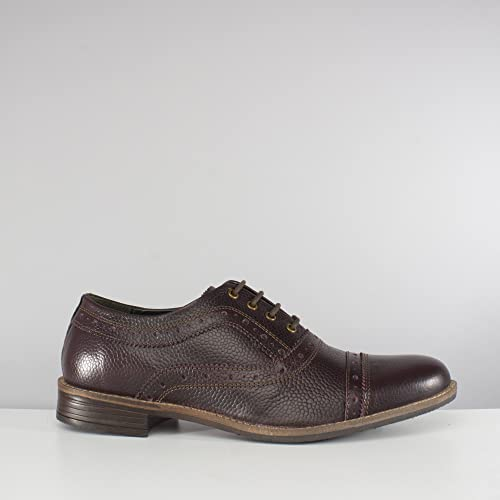 9e747c026a4a3 Silver Street London Albany Mens Leather Oxford Brogue Shoes Oxblood UK 9