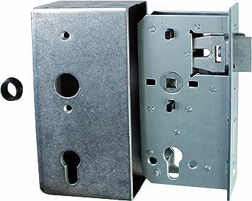 Gah-Alberts 413460 - Caja de cerradura con cerrojo niquelado (acero, mandril: 55 mm, distancia: 72 mm, profundidad: 30 mm): Amazon.es: Bricolaje y herramientas