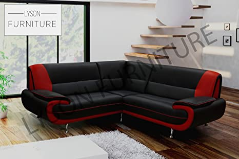 Tremendous Lyson Furniture Kara Olaf Palermo Corner Sofa Black Gmtry Best Dining Table And Chair Ideas Images Gmtryco