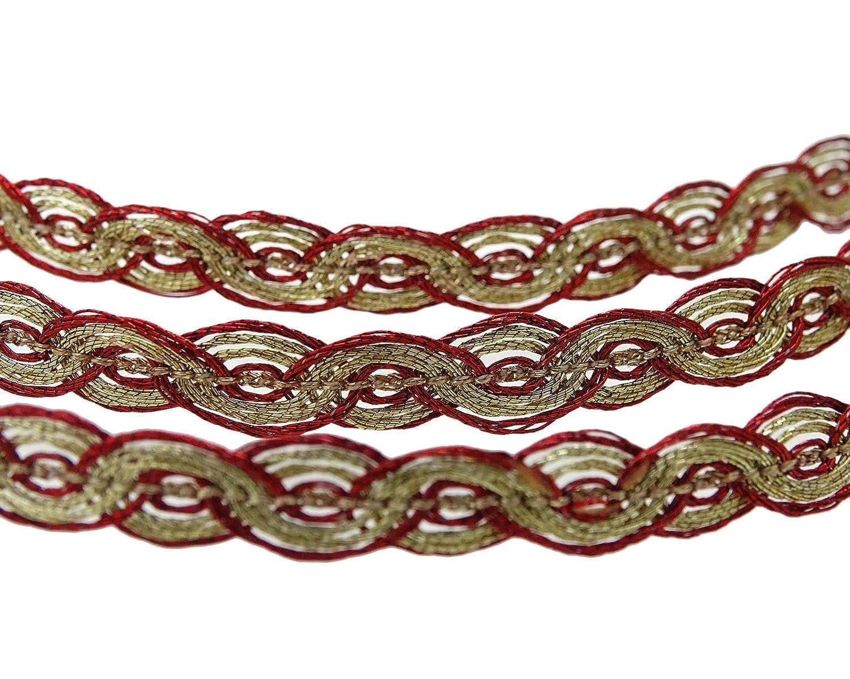 Delgada trenzado del cord/—n del ribete Elaboraci/—n de 0,51 cm de ancho del ajuste Suministros Por 18 yardas