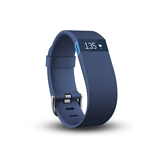 Fitbit Charge HR Wireless Activity Wristband (Blue, Small (5.4 - 6.2 in))