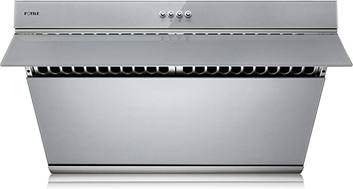 "FOTILE JQG7502.G 30"" Range Hood Under Cabinet Kitchen Stainless Steel Wall Mount with Mechanical Button (Silver Gray)"