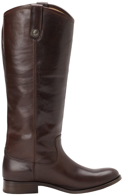 FRYE Women's Melissa Button Boot B00AX4LKSY 7.5 B(M) US|Dark Brown Wide Calf Smooth Vintage Leather-77167