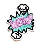 Nipitshop Patches Wow! Patch Blue Wow! Superhero
