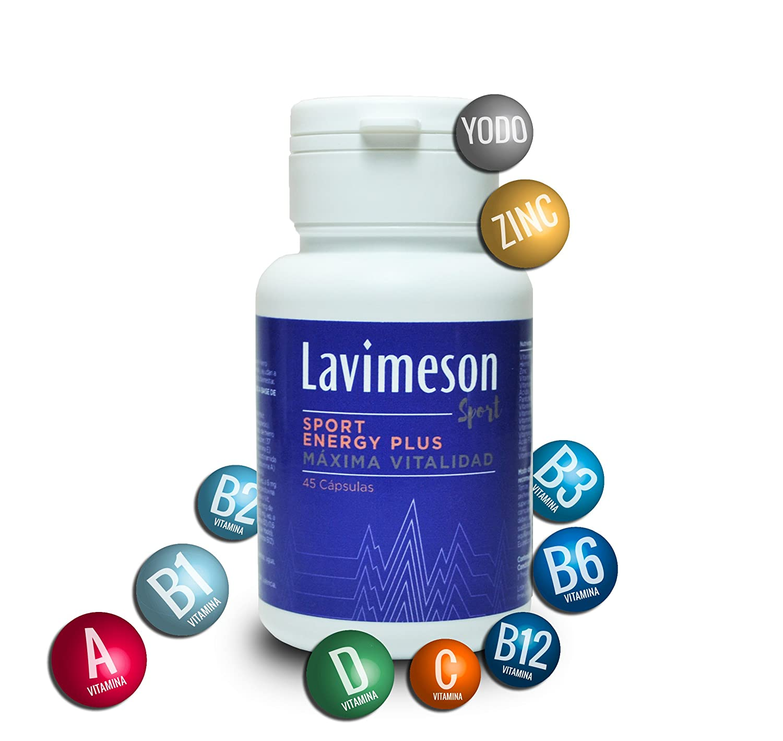 Vitaminas y minerales, Combate la fatiga y el cansancio, mayor vitalidad y productividad, 45 cápsulas,
