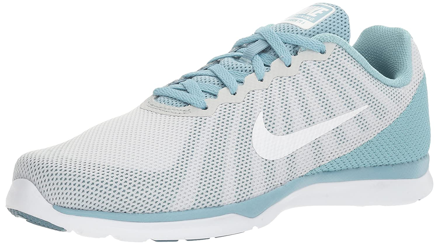 NIKE Women's in-Season TR 6 Cross Training Shoe B01FTKWYK4 10.5 B(M) US|Pure Platinum/White/Mica Blue