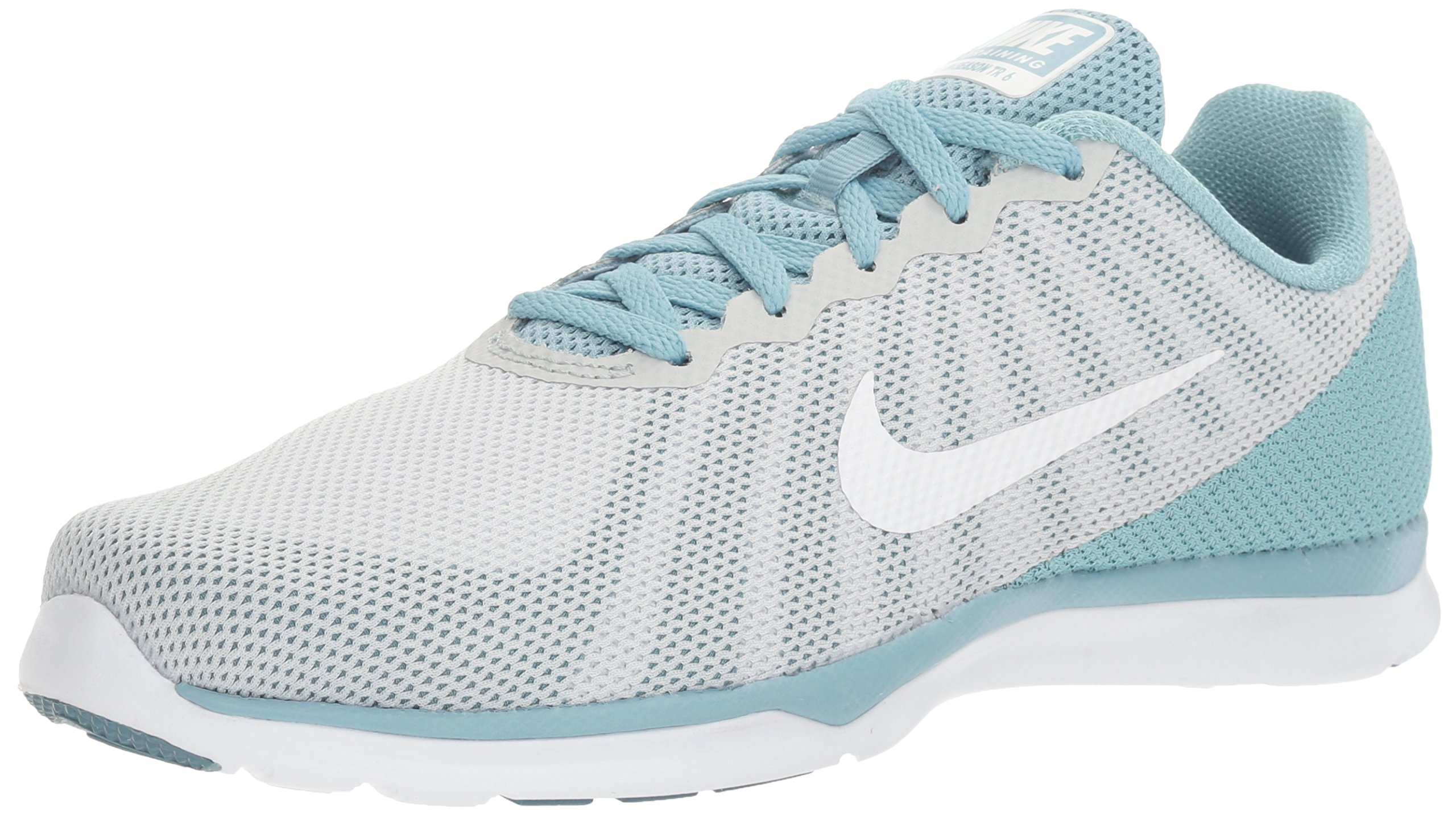 NIKE Women's in-Season TR 6 Cross Trainer, Pure Platinum/White/Mica Blue, 7 B US