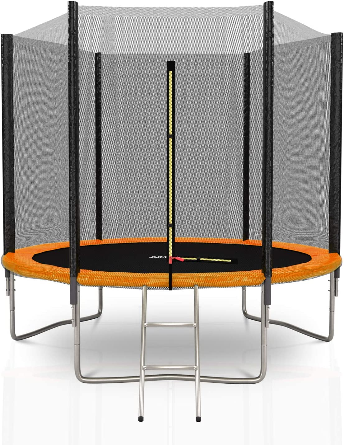JUMP4FUN - Cama elástica Exterior de 244 cm, 4 Colores a Elegir: Azul, Negro, Verde Manzana, Naranja, Niño, Naranja, 8FT - ø 244CM: Amazon.es: Deportes y aire libre