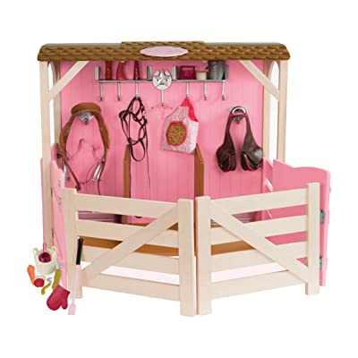 """Our Generation Dolls Saddle Up Stables Horse Barn for Dolls, 18"""": Toys & Games"""