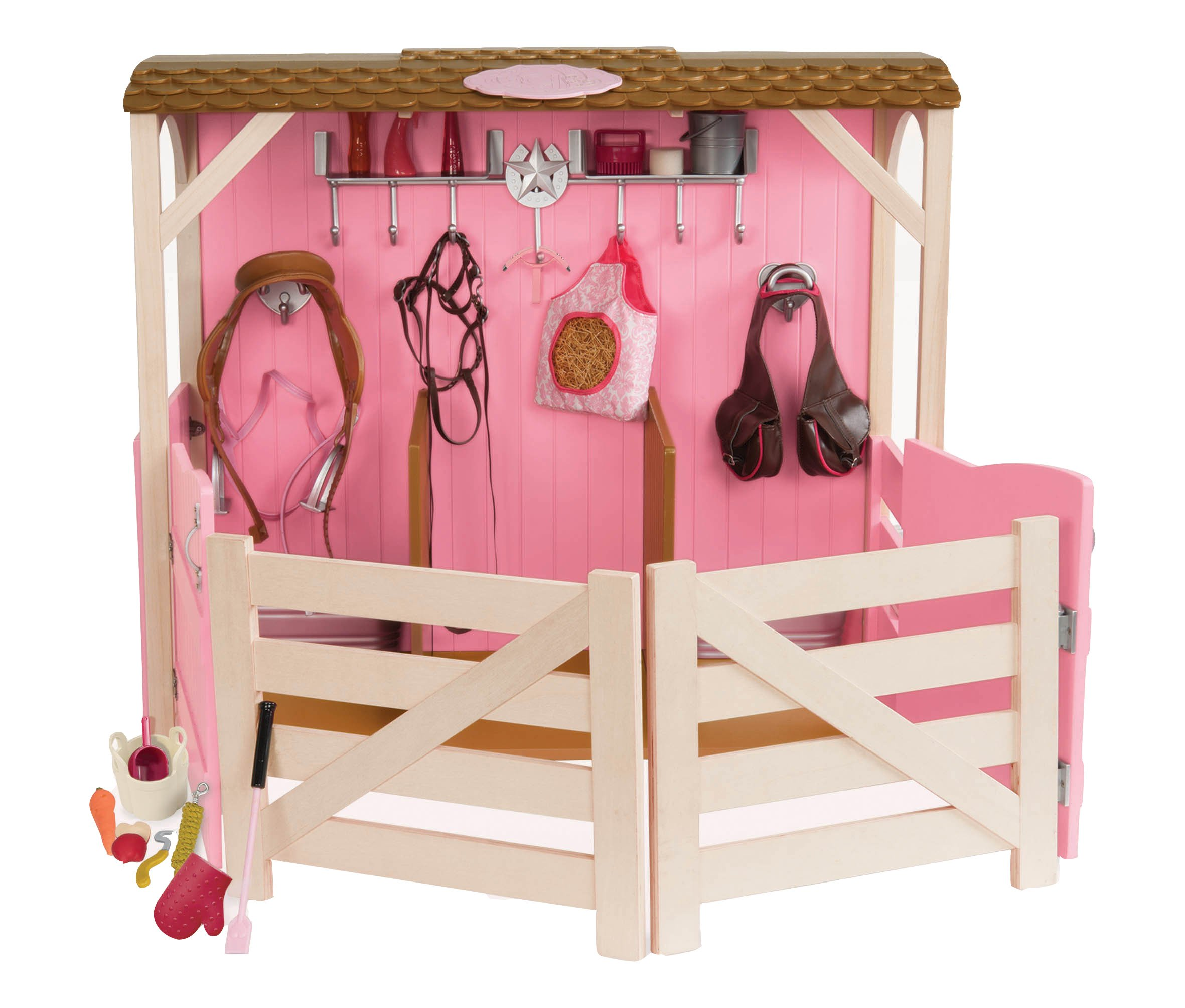 Our Generation Dolls Saddle Up Stables Horse Barn for Dolls, 18''