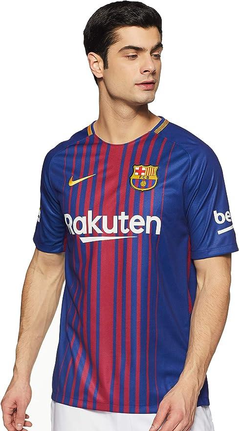 NIKE Breathe FC Barcelona Stadium SS Home Camiseta Hombre: Amazon.es: Ropa y accesorios