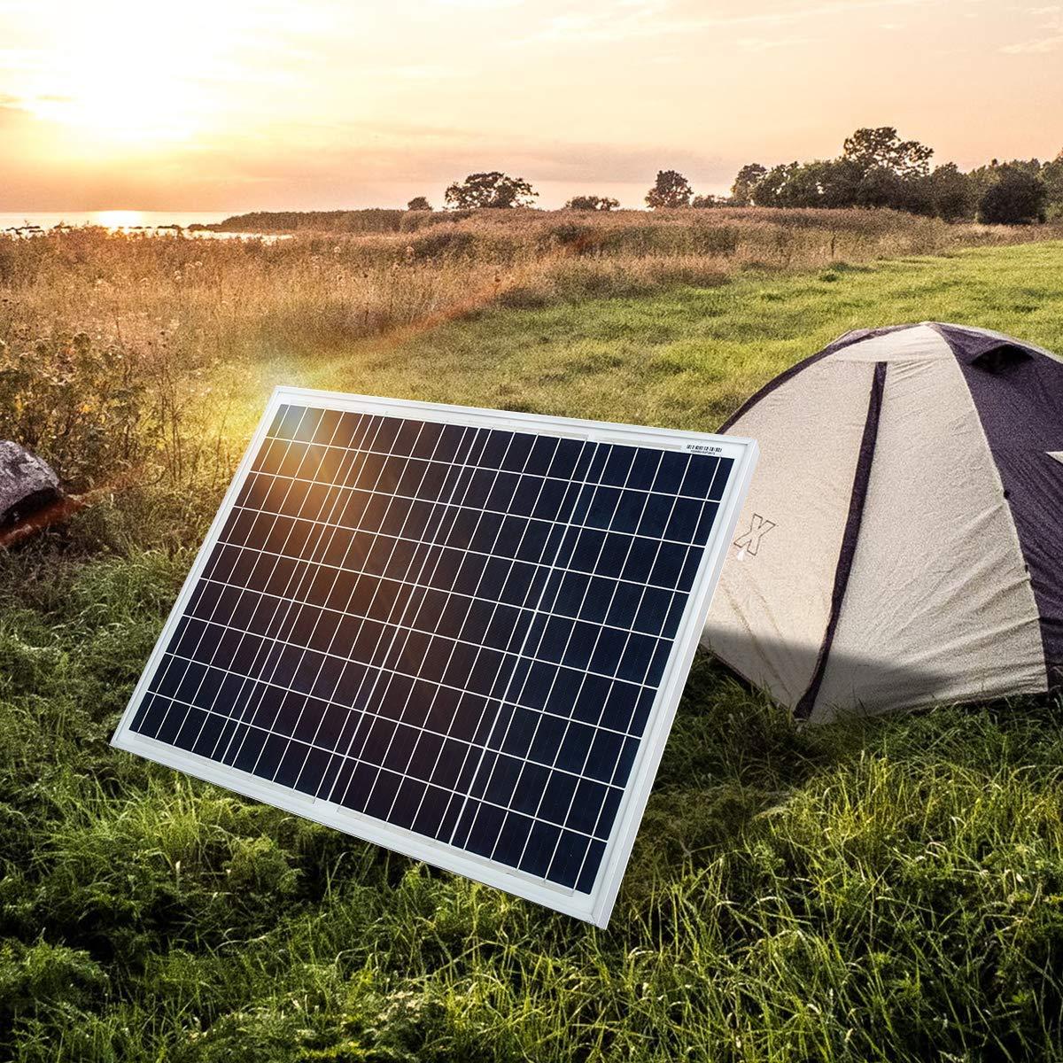 SARONIC 50W 12V Polykristallines Solarmodul-Photovoltaik-PV-Modul f/ür Wohnwagen Wohnmobil Boot oder Yacht