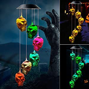 zhengshizuo Skeleton Skull String Light Wind Chimes Christmas Decorations Halloween Decorations Decor Outdoor Halloween Lights