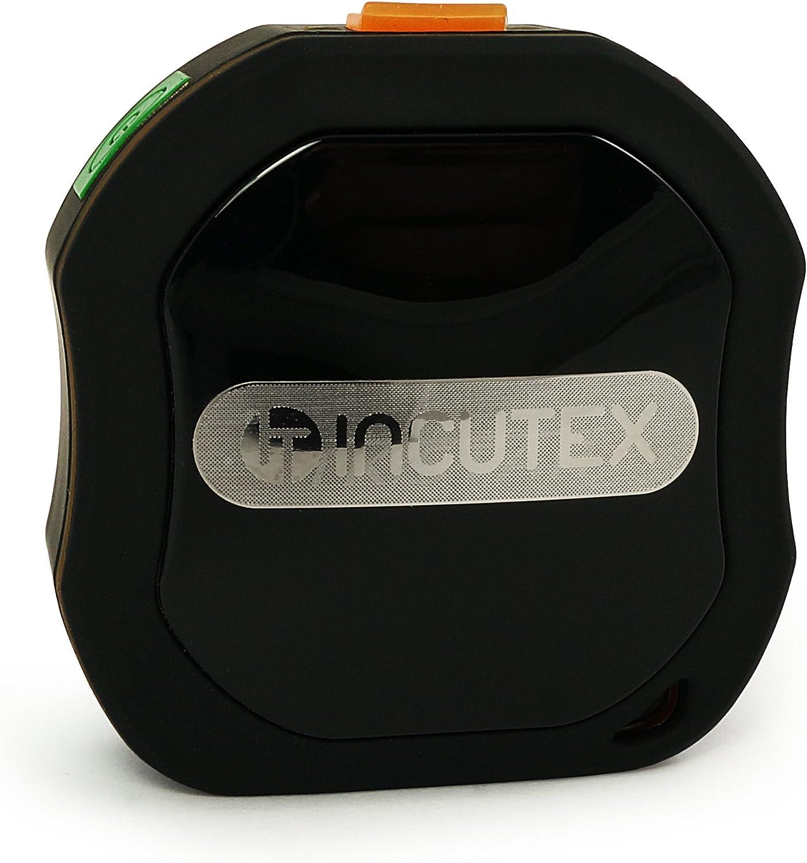 Incutex - Localizador GPS Tracker TK105 Mini - para rastrear niños, Ancianos, Mascotas y Bicicletas - Impermeable