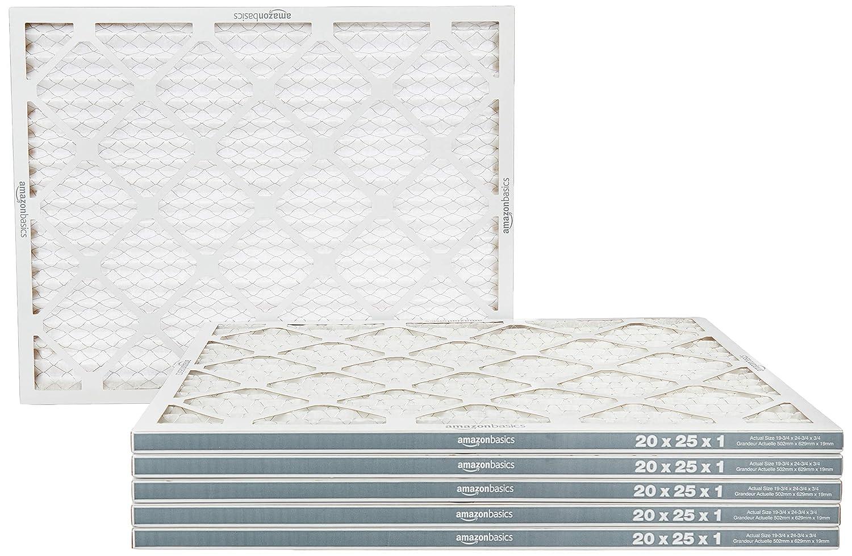 아마존 기본 MERV 8 AC 용광로 공기 필터 - 20`X 25`` X 1` 6 팩