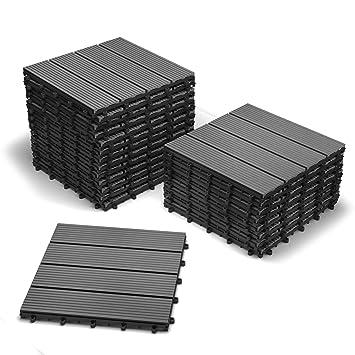 Bevorzugt SAM Terrassenfliesen WPC Kunststoff, 22er Spar Set für 2m² BC77