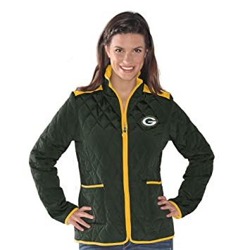 Amazon.com : Green Bay Packers Women&39s Quilted Green Jacket
