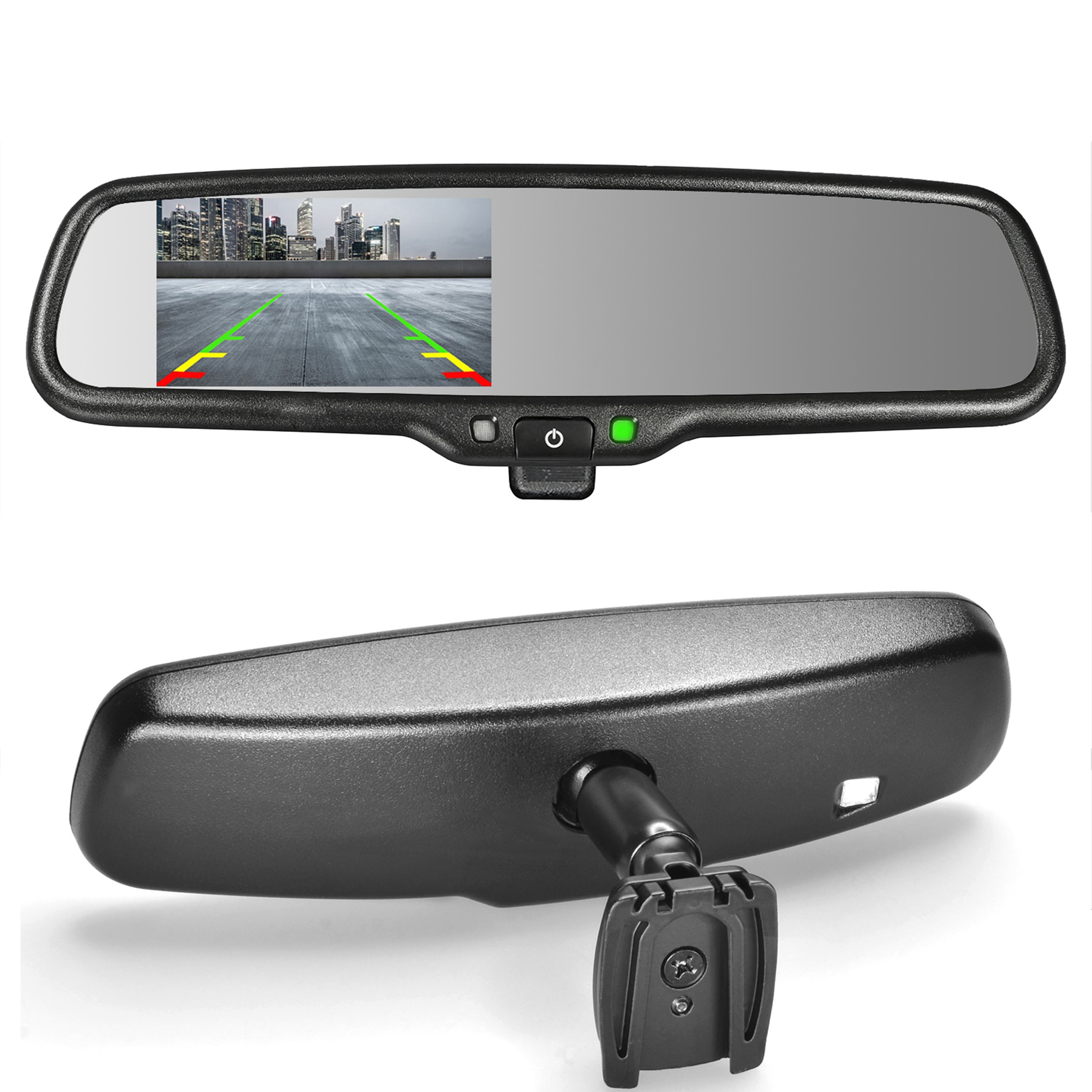 Master Tailgaters OEM Rear View Mirror with 4.3'' Auto Adjusting Brightness LCD + Manual Dimming - Universal Fit