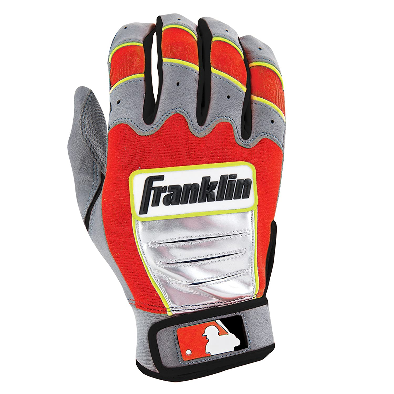 Franklin (フランクリン) スポーツ MLB CFX Pro バッティング グロ―ブ B00N4M3P6M Small|Gray/Red/Optic Yellow Gray/Red/Optic Yellow Small