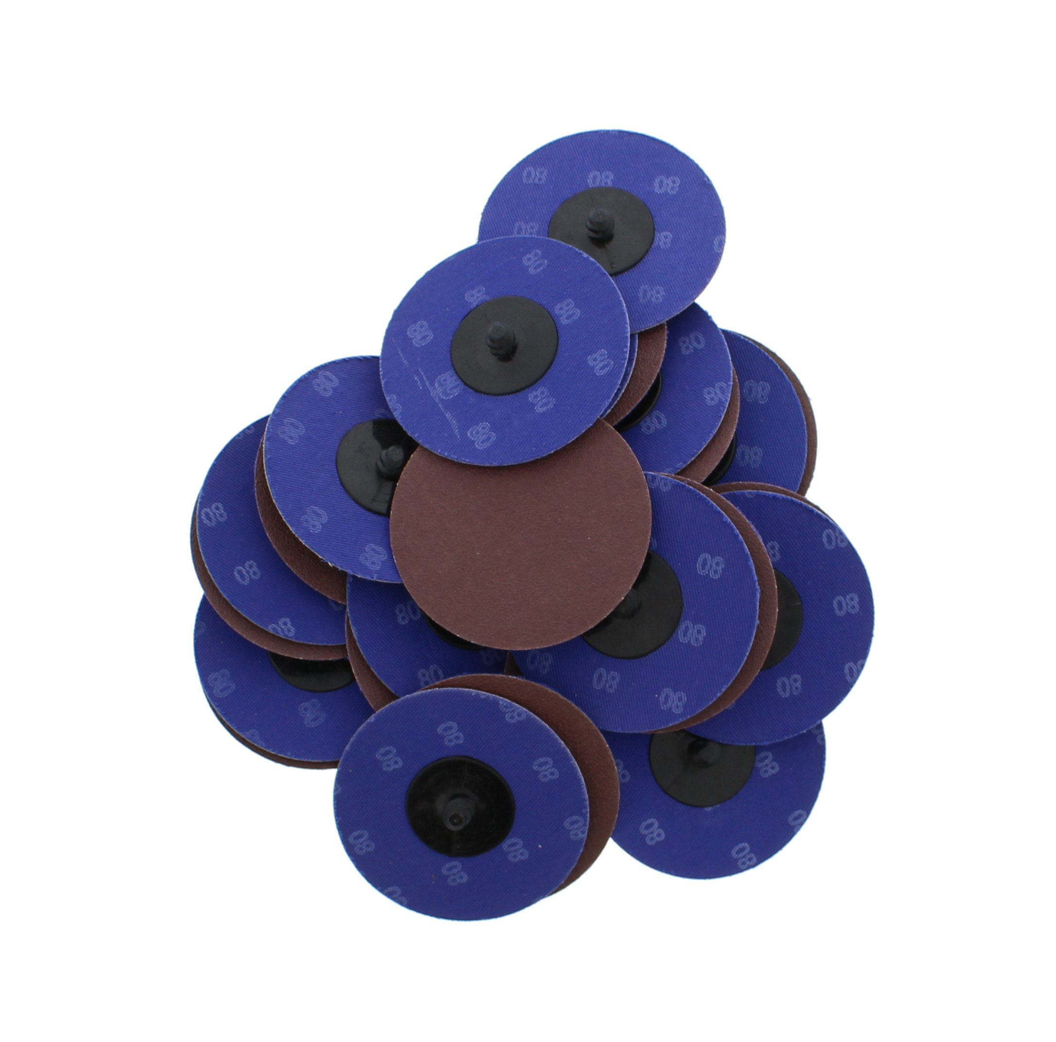 "ABN Aluminum Oxide Sanding Discs 25-Pack, 3"" Inch, 80 Grit - Metal Sanding Wheels for Surface Prep and Finishing Work"