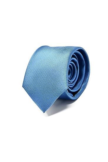Oxford Collection Cravate Homme Bleu Clair - 100% en Soie - Classique,  Elégante et 1edd39b9c9e